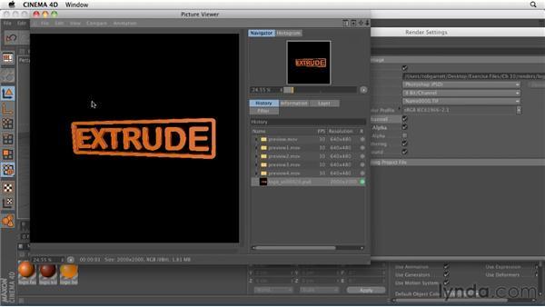 Rendering: Still images vs. animation: CINEMA 4D R12 Essential Training