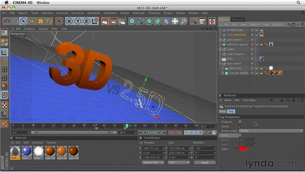 Using the External Compositing tag: CINEMA 4D R12 Essential Training