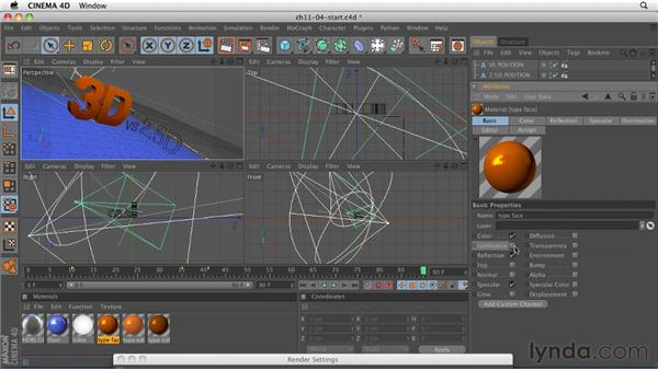Setting up a multi-pass render: CINEMA 4D R12 Essential Training