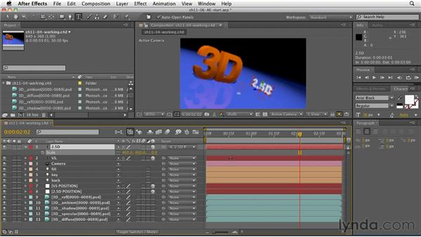 Manipulating 3D renders in After Effects: CINEMA 4D R12 Essential Training