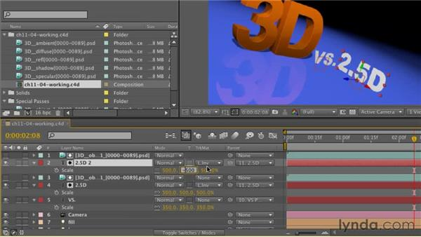 Fine-tuning a composition in After Effects: CINEMA 4D R12 Essential Training