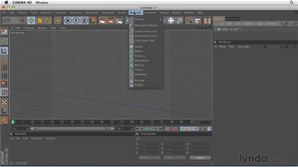 Using the Cloner object: CINEMA 4D R12 Essential Training