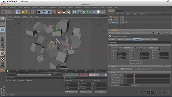 Modifying cloners with Effector objects: CINEMA 4D R12 Essential Training