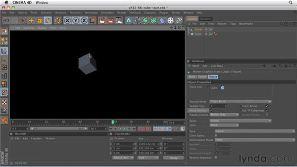 Using the Tracer object to create paths: CINEMA 4D R12 Essential Training