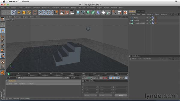 Understanding the dynamics engine: CINEMA 4D R12 Essential Training