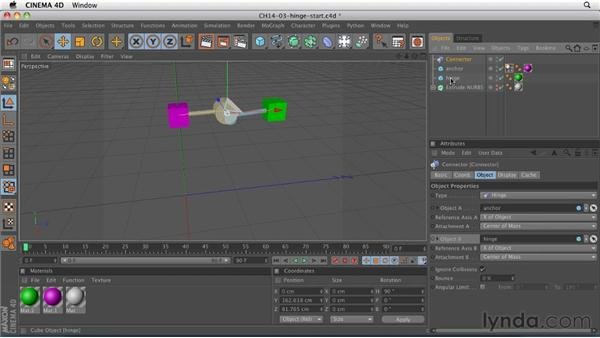 Using connectors to create relationships between objects: CINEMA 4D R12 Essential Training