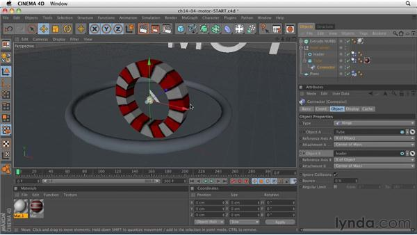 Creating movement with motors: CINEMA 4D R12 Essential Training