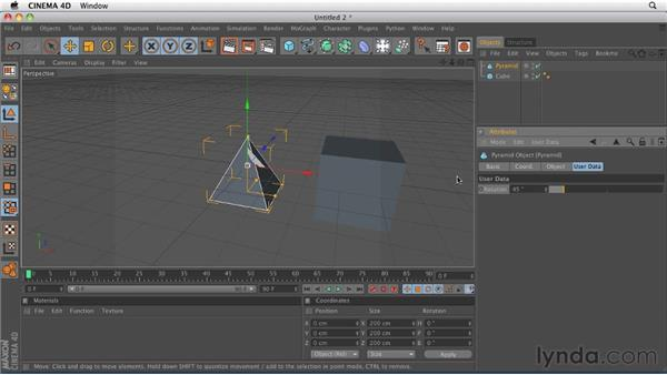 Creating a data slider to control XPresso data: CINEMA 4D R12 Essential Training