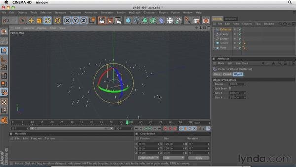 Creating a liquid effect using Particles and Metaballs: CINEMA 4D R12 Essential Training
