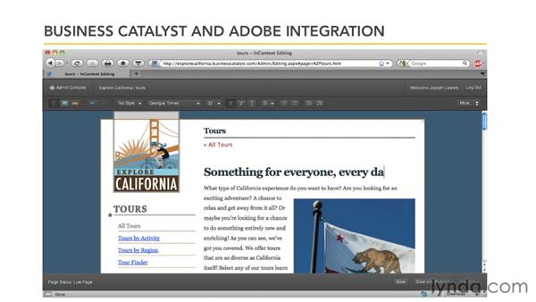 Adobe and Business Catalyst integration: Getting Started with Dreamweaver CS5 and Business Catalyst