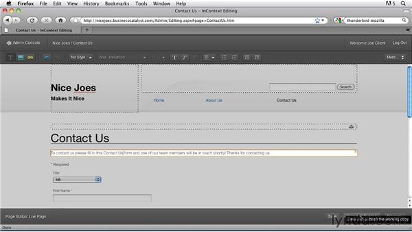 Enabling InContext Editing for clients: Getting Started with Dreamweaver CS5 and Business Catalyst