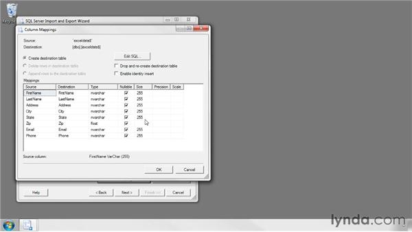 Importing Excel files into SQL Server