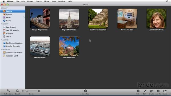 Importing photo files: iPhoto '11 Essential Training
