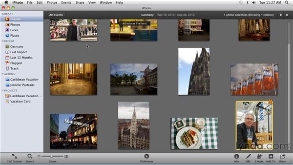 Hiding photos: iPhoto '11 Essential Training