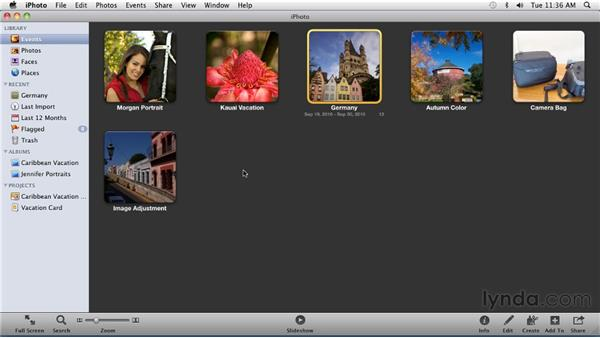 Flagging photos: iPhoto '11 Essential Training