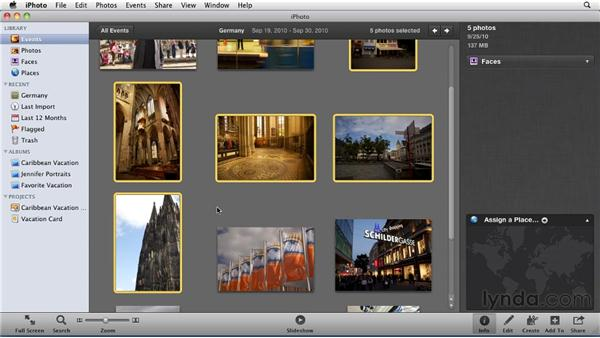 Geotagging images: iPhoto '11 Essential Training