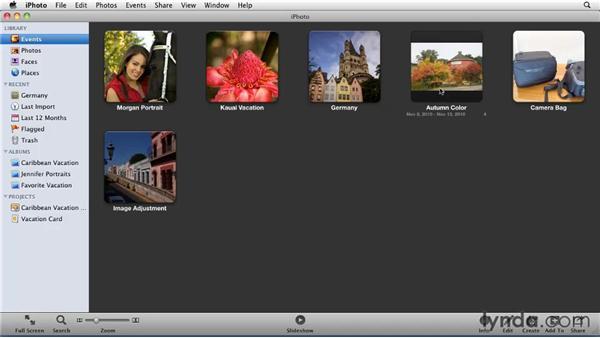 Creating albums: iPhoto '11 Essential Training
