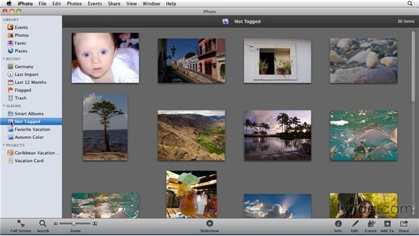 Creating folders: iPhoto '11 Essential Training