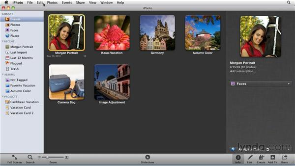 Displaying photos by rating: iPhoto '11 Essential Training