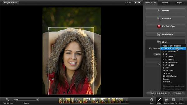Cropping photos: iPhoto '11 Essential Training