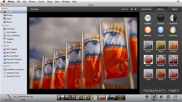 Reverting to the original: iPhoto '11 Essential Training