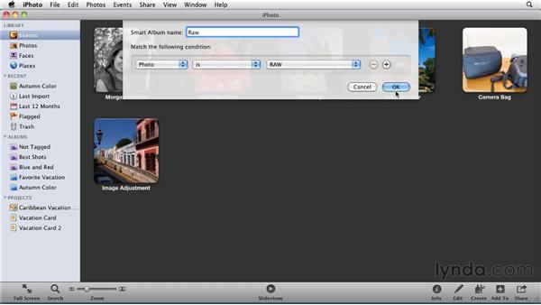 Working with RAW files in iPhoto: iPhoto '11 Essential Training
