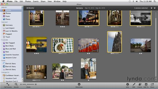 Sharing your photos via Flickr: iPhoto '11 Essential Training