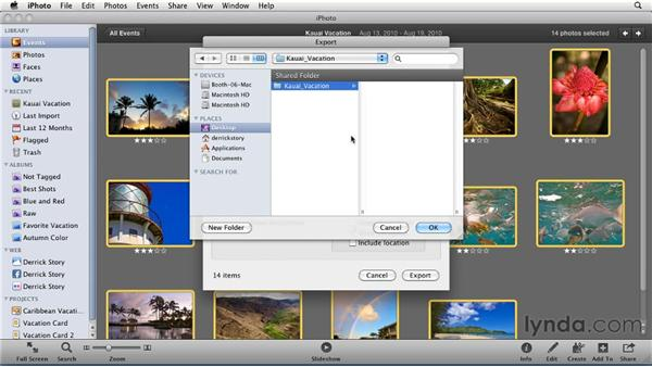 Creating a web gallery: iPhoto '11 Essential Training