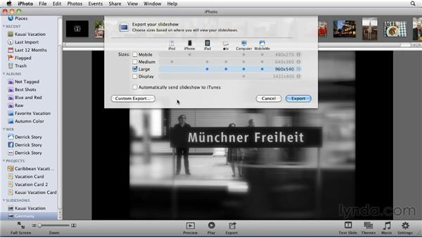 : iPhoto '11 Essential Training