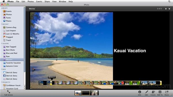 Managing movies in your iPhoto library: iPhoto '11 Essential Training