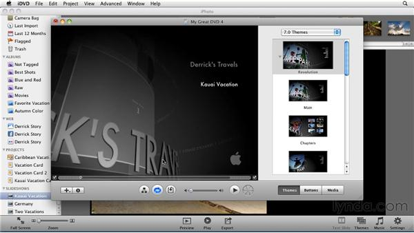 Creating a DVD from iPhoto: iPhoto '11 Essential Training