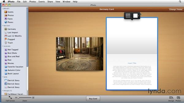 Creating greeting cards: iPhoto '11 Essential Training
