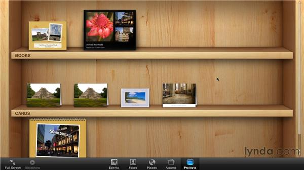 Viewing all your calendars, books, and cards: iPhoto '11 Essential Training