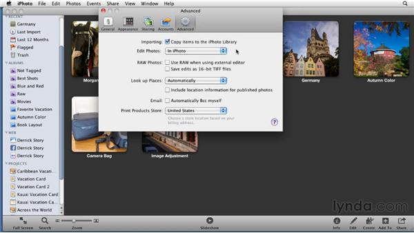 Customizing iPhoto preferences: iPhoto '11 Essential Training