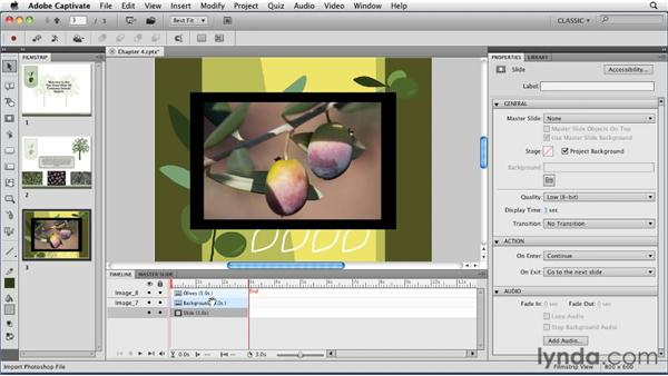 Importing Photoshop files: Captivate 5 Essential Training