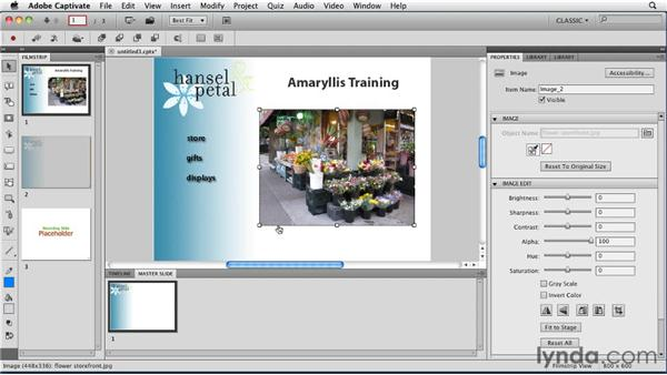Using project templates: Captivate 5 Essential Training