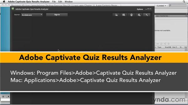 Getting reports from Acrobat.com: Captivate 5 Essential Training