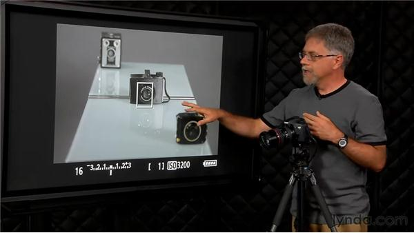 The depth-of-field preview button: Foundations of Photography: Exposure