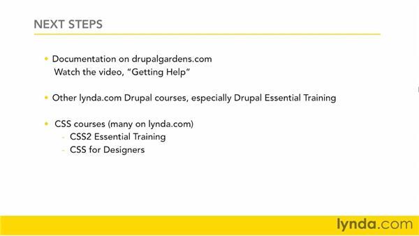 Goodbye: Drupal Gardens Essential Training