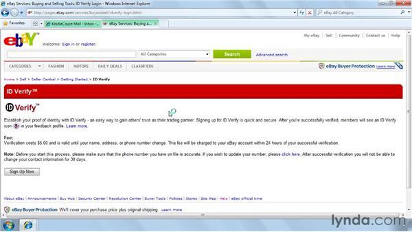 Establishing your identity with ID Verify: eBay for Buyers Essential Training