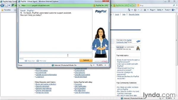 Reaching out to customer support: eBay for Buyers Essential Training