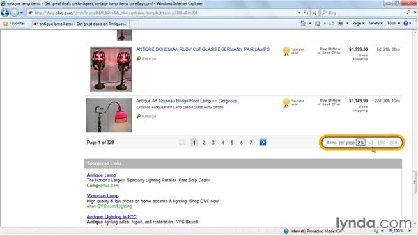 Doing basic searches: eBay for Buyers Essential Training