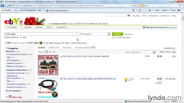 Saving searches and favorite sellers: eBay for Buyers Essential Training