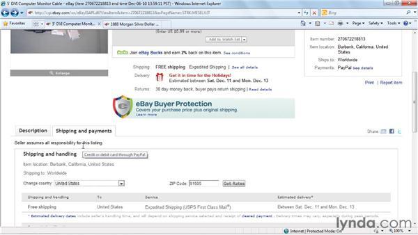 Clarifying item descriptions: eBay for Buyers Essential Training