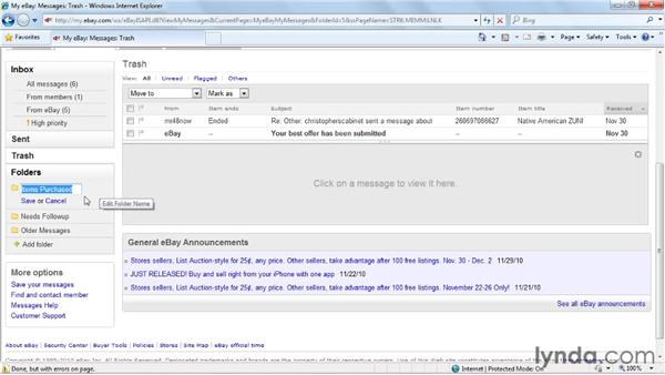 Using the message center: eBay for Buyers Essential Training