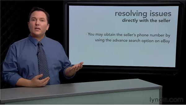 Resolving issues directly with the seller: eBay for Buyers Essential Training