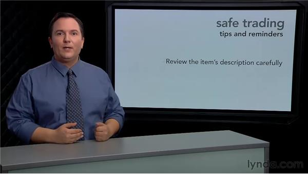 Tips for safe trading: eBay for Buyers Essential Training