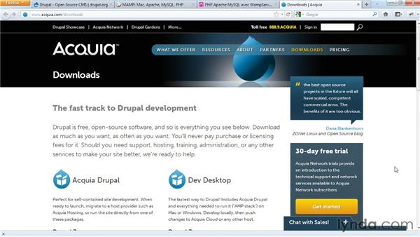 Installing Acquia Dev Desktop: Drupal 7 Essential Training