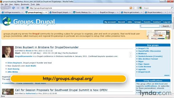 Joining the Drupal community: Drupal 7 Essential Training