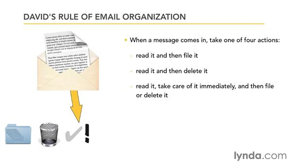 David's Rule of Email Organization: Outlook 2007 Power Shortcuts